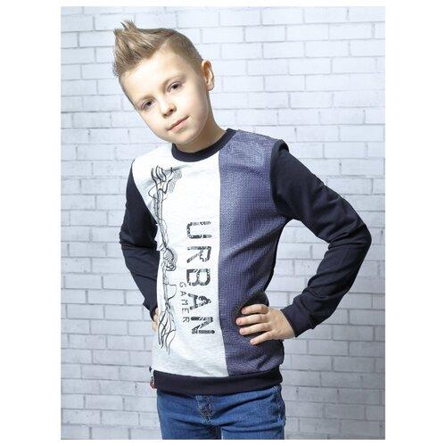 Свитшот Nota Bene размер 122, темно-синий джемпер для мальчика nota bene цвет темно синий 181140305 29 размер 164