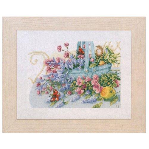 Фото - Lanarte Набор для вышивания Букет с бабочкой 36 x 26 см (PN-0151014) lanarte набор для вышивания индианка 39 x 49 см 0008160 pn
