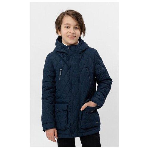 Купить Куртка Button Blue 220BBBS41021000 размер 128, синий, Куртки и пуховики
