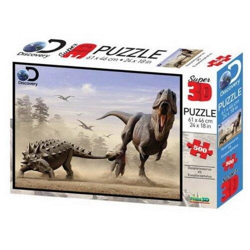 Купить Пазл Prime 3D Дасплетозавр против эвоплоцефала (10331), 500 дет., Пазлы