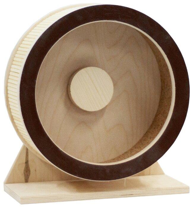 Игрушка для грызунов DoradoWooD Беговое колесо деревянное 27.5 см