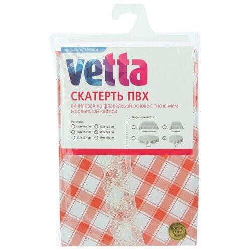 Скатерть Vetta Красная клетка 479-264 137 см красная клетка