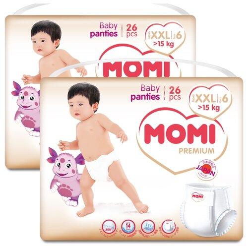 Купить Momi трусики Premium XXL (от 15 кг), 52 шт., Подгузники