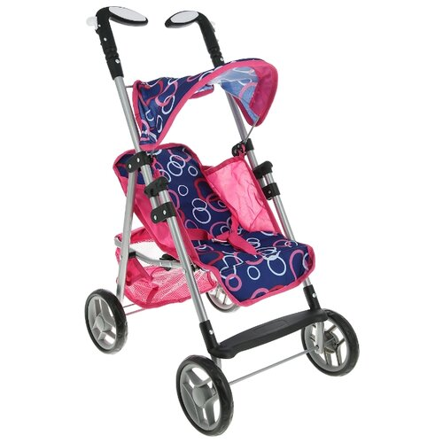 Купить Прогулочная коляска Melobo / Melogo K0106 розовый/синий, Коляски для кукол