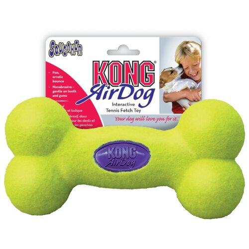 Kong Игрушка для собак Air Косточка большая 23 см kong kong игрушка для собак air гантель большая 23 см
