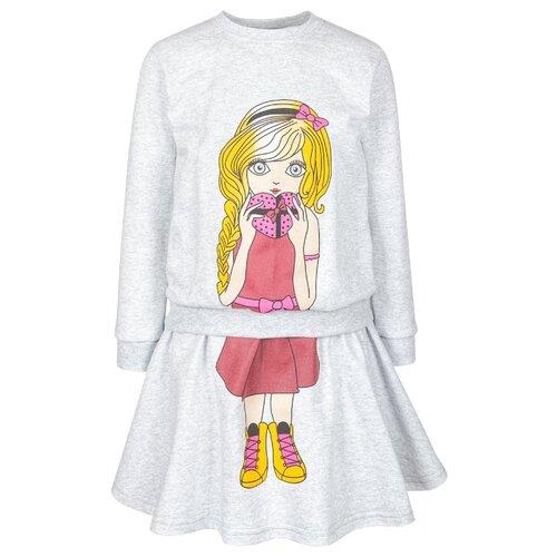 Купить Комплект одежды M&D размер 98, серый меланж, Комплекты и форма