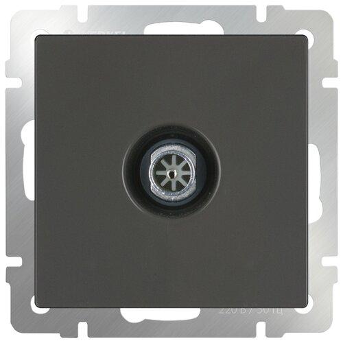 Антенное гнездо Werkel WL07-TV-2W, серый переход гнездо f гнездо tv с кольцом proconnect