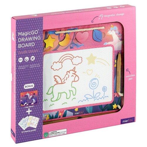 Купить Доска для рисования детская Mieredu Единорог (ME223R) розовый, Доски и мольберты