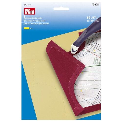 Купить Бумага Prym копировальная, вощеная (610 463) 82 х 57 см, 2 л. желтый, Бумага для рисования