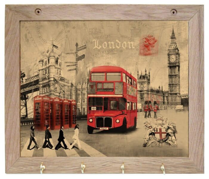 Вешалка Gift'n'Home для полотенец Лондон 4 крючка