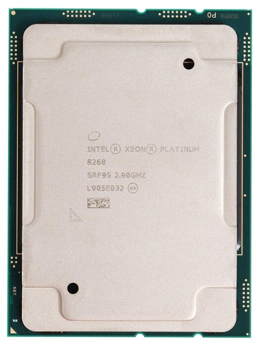 CD8069504195101 Процессор серверный 24-Core Xeon Platinum 8268 2.9 GHz (TB, HT, Memory Speed 2933Mhz, 35.75 МB, Cascade Lake-S8S, S3647) Tray TDP 205W
