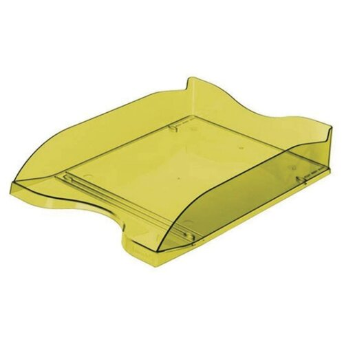 Купить Лоток горизонтальный для бумаги СТАММ Люкс тонированный зеленый лайм, Лотки для бумаги