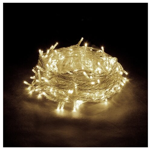 Гирлянда Vegas Занавес 55094 (100 х 200 см), 96 ламп, теплый свет/бесцветный провод