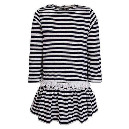 Платье Il Gufo размер 92, белый/синий/полоска