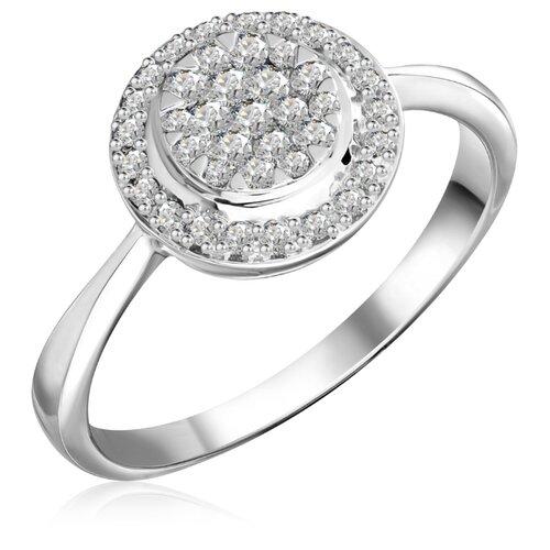 Бронницкий Ювелир Кольцо из белого золота R 0069, размер 18 кольцо из золота r 61902