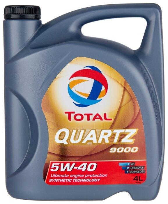 Масло моторное TOTAL QUARTZ 9000 5w40 Синтетика (4 л) A3/B4 SL/CF