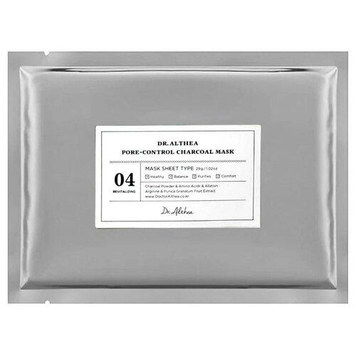 Купить Dr. Althea тканевая маска Pore-Control Charcoal Mask для сужения пор с древесным углем, 29 г