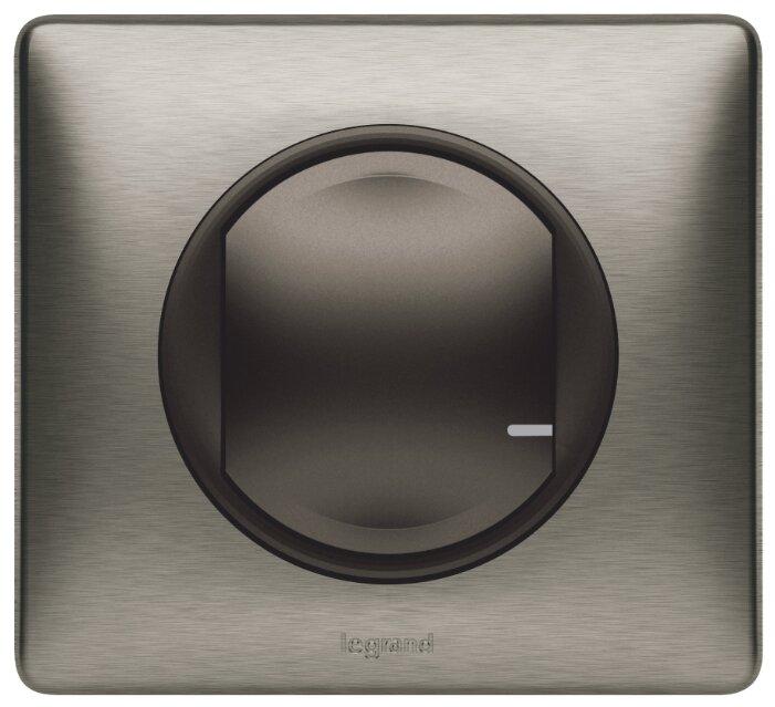 Выключатель 1-полюсный Legrand Celiane 064891,1.3А, графит/вольфрам фото 1
