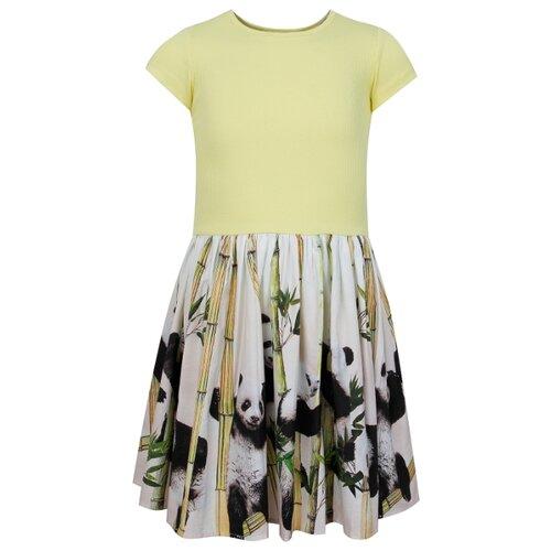 Платье Molo размер 92-98, белый/желтый