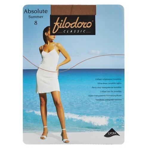 Колготки Filodoro Classic Absolute Summer 8 den, размер 3-M, glace (коричневый) колготки filodoro classic dora 20 den размер 3 m glace коричневый