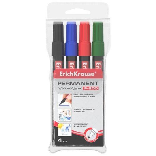 Купить ErichKrause Набор маркеров P-200, 4 шт. (11606) черный, Маркеры