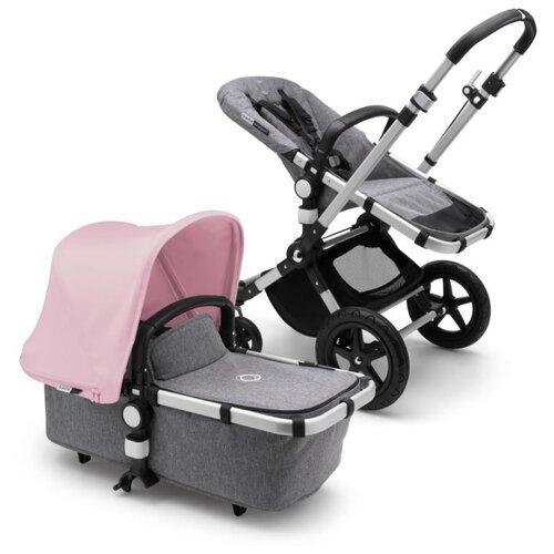 Универсальная коляска Bugaboo Cameleon3 Plus (2 в 1) Alu/Grey melange/Soft pink, цвет шасси: серебристый