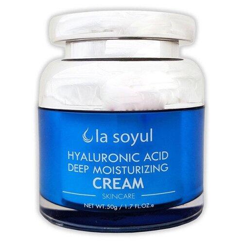 La soyul Hyaluronic Acid Deep Moisturizing Cream Крем для лица с гиалуроновой кислотой для глубокого увлажнения, 50 г крем для лица ullex hyaluronic acid