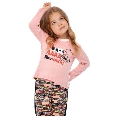Лонгслив lucky child Ми-ми-мишки размер 28 (92-98), розовый худи lucky child размер 28 92 98 фиолетовый