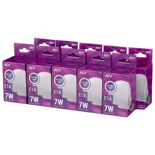 Упаковка светодиодных ламп 10 шт REV 32341 9, E14, G45, 7Вт 2015 30 rev 30