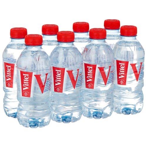 Минеральная вода Vittel негазированная, ПЭТ, 8 шт. по 0.33 л