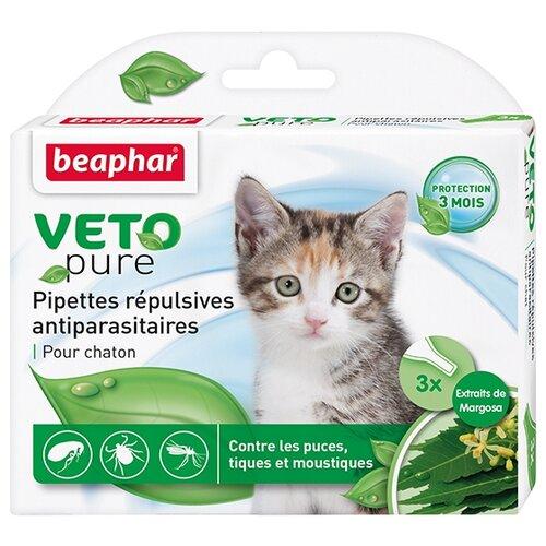 Beaphar капли от блох и клещей Veto pure для котят
