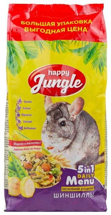 Корм для шиншилл Happy Jungle 5 in 1 Daily Menu Основной рацион