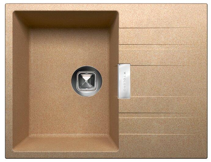 Врезная кухонная мойка Tolero Loft TL-650 50х65см кварцевый искусственный камень