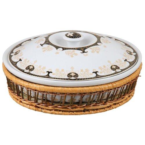 ROSENBERG Блюдо R-035032 29 см белый/коричневый