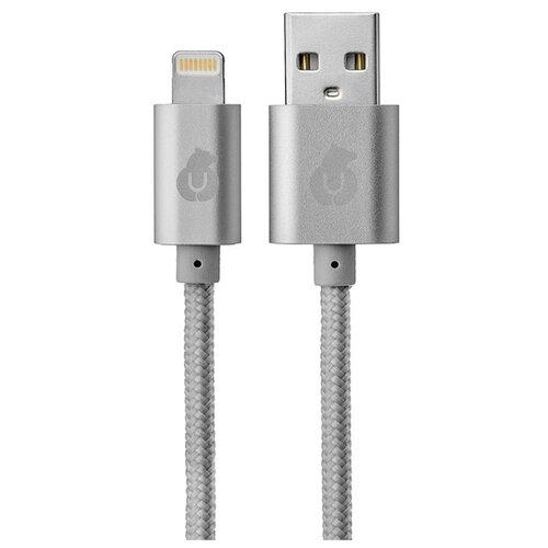 Кабель uBear Cord USB - Lightning (DC01) 1 м серый
