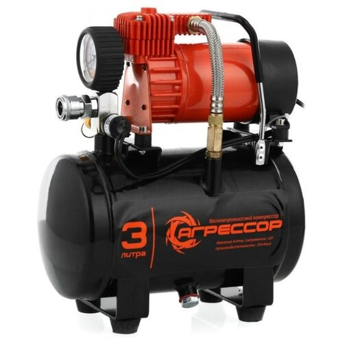 цена на Автомобильный компрессор Агрессор AGR-3LT черный/оранжевый