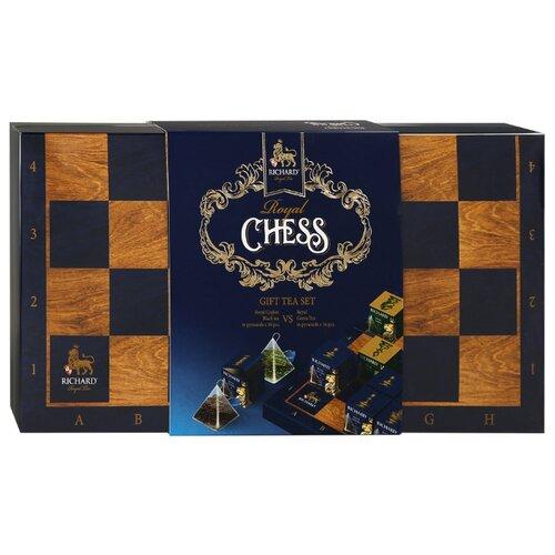 Чай Richard Royal chess ассорти в пирамидках подарочный набор , 32 шт. чай листовой richard royal ceylon dogs