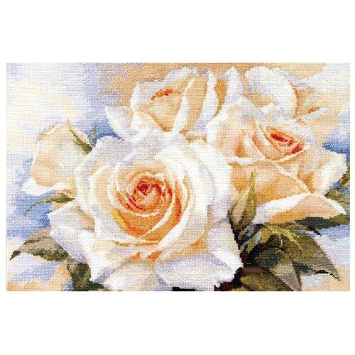 Купить Алиса Набор для вышивания крестиком Белые розы 40 х 27 см (2-32), Наборы для вышивания