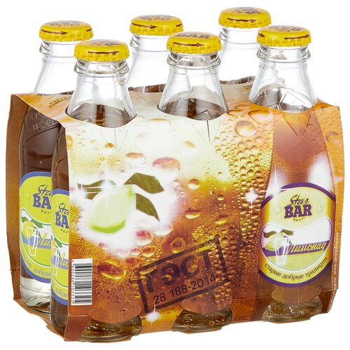 Лимонад Star Bar, 0.175 л, 6 шт. star bar лимонад тархун 6 шт по 0 175 л