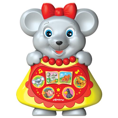 Купить Развивающая игрушка Азбукварик Любимая сказочка Мышка-норушка серый, Развивающие игрушки