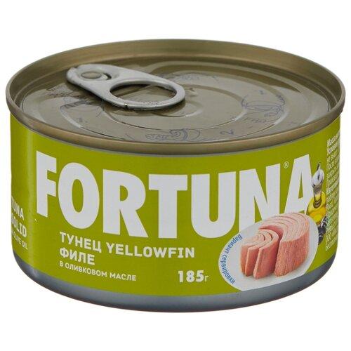 Fortuna Тунец yellowfin филе в оливковом масле, 185 г