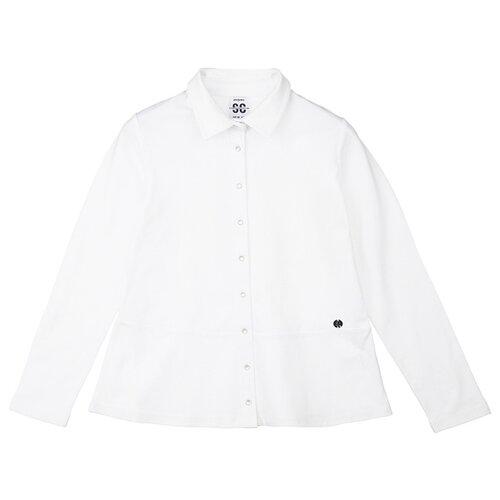 Купить Блузка playToday размер 134, белый, Рубашки и блузы