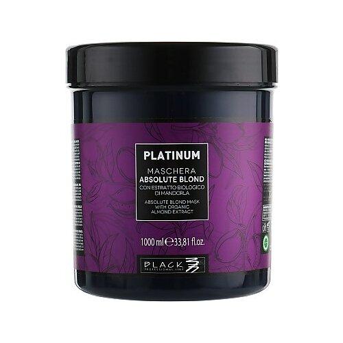 Black professional line Platinum Absolute Blond Маска для осветленных волос, 1000 мл шампунь black professional line шоколад и кератин 500 мл