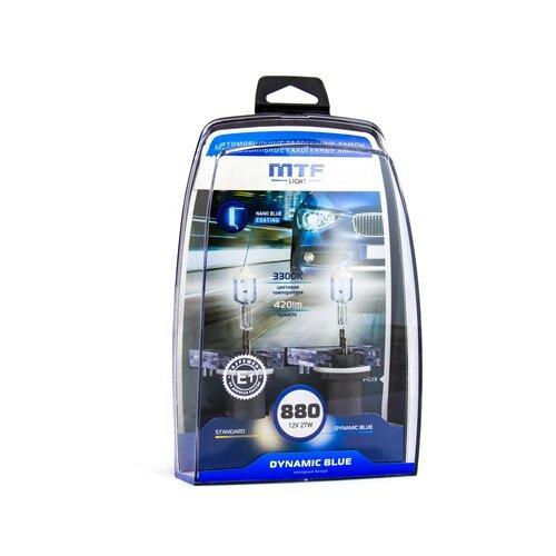 Фото - Лампа автомобильная галогенная MTF Dynamic Blue HDB1280 H27(880) 12V 27W 2 шт. лампа автомобильная галогенная mtf dynamic blue hdb1280 h27 880 12v 27w 2 шт
