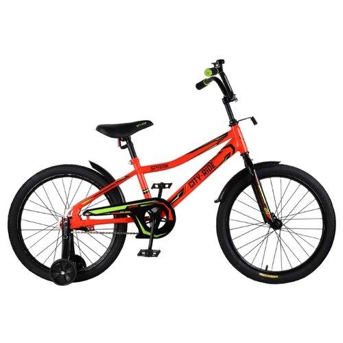 цена на Детский велосипед CITY-RIDE Spark 20 (CR-B2-0220) красный (требует финальной сборки)