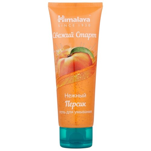 Himalaya Herbals гель для умывания Fresh Start Персик, 100 мл гель для ежедневного умывания cleanmat 225 мл premium home work