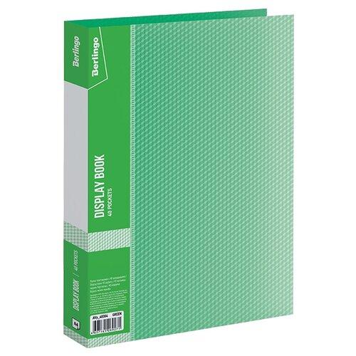 Купить Berlingo Папка с 40 вкладышами Diamond A4, пластик зеленый, Файлы и папки