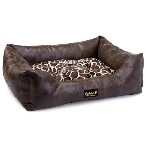 Лежак для собак и кошек PRIDE прямоугольный Президент 60х50х18 см коричневый