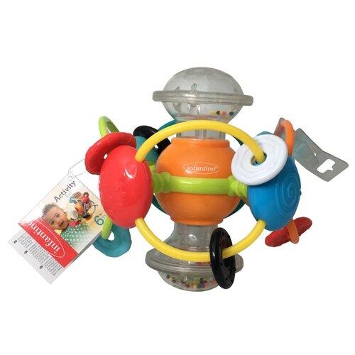 Купить Погремушка Infantino Развивающий шар оранжевый/серый, Погремушки и прорезыватели