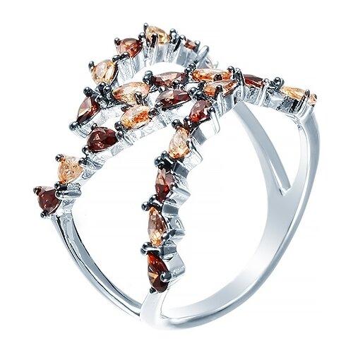 JV Кольцо с фианитами из серебра SR26747-W3-KO-001-WG, размер 17.5 jv кольцо с фианитами из серебра r27103 w3 ko 001 wg размер 16 5